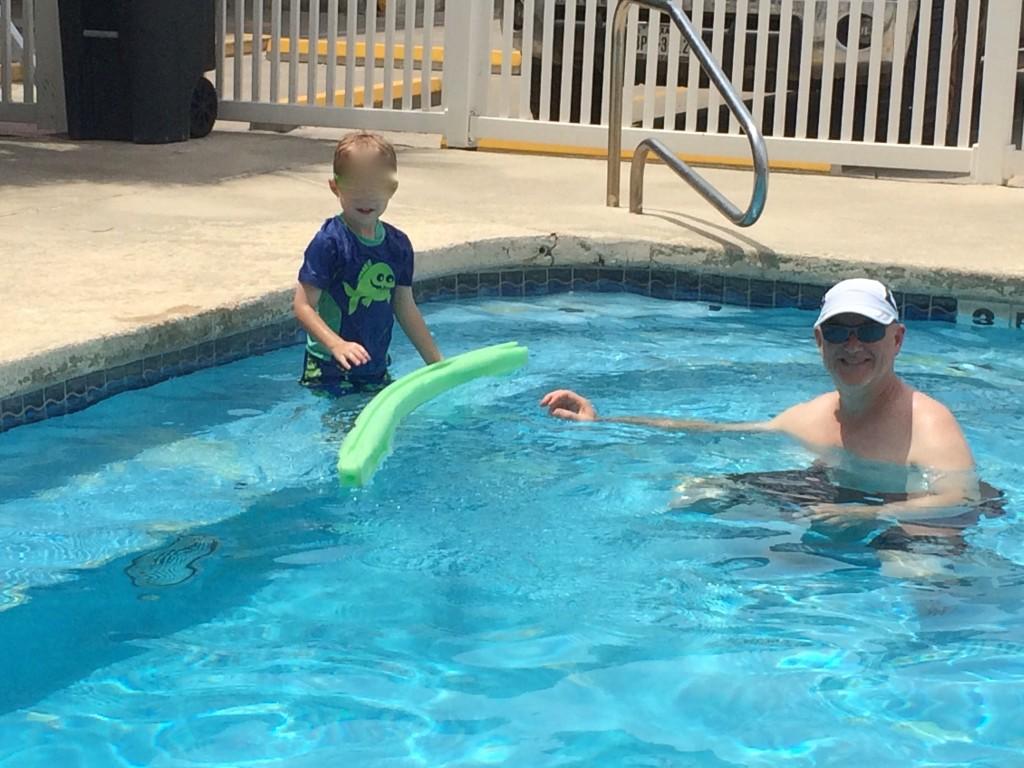 Fun time in the pool!